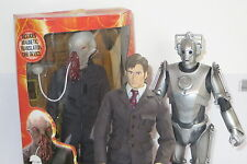 """DR WHO 12"""" 10th Doctor David Tennant Figure Doll + Cyberman Boxed Ood 2006"""