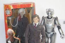 "DR Who 12"" Dottore 10th David Tennant Figura Bambola + Cyberman in scatola DAL 2006"