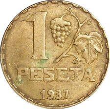 Spain Espagne 1 Una Peseta 1937 KM#755 Republica (4083)