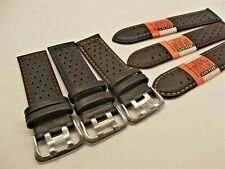 cinturino pelle tipo hamilton traforati misure 18-20-22-24 mm orologi watch