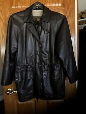 LORO PIANA Woman's Cashmere Lined Leather Coat Jacket S