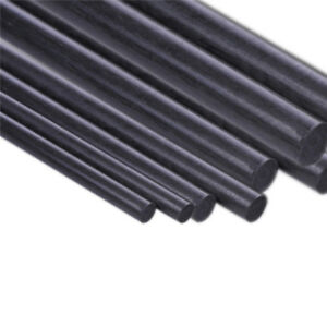 10pcs 0.5mm Diameter 500mm Length Carbon Fiber Rods Matte Surface
