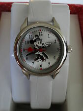 New Disney Minnie Mouse NURSE White Band Watch, Quartz New/box/warranty