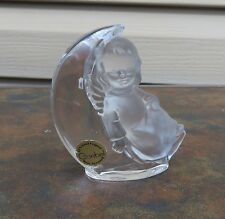 Goebel - Angel Sitting on the Moon Lead Crystal Figurine