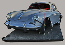 MODEL CARS, PORSCHE 356 -02, car passenger,11,8x 7,8 inches  with Clock