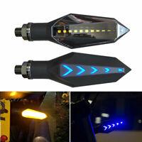 2x Universel Clignotant Moto Signal Indicateur Lumineux Ambre eclairage