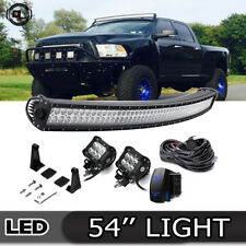 "54"" Curved LED Light Bar Combo 99-15 Ford F350 Super Duty Upper Roof Mount"
