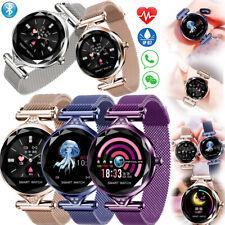Elegant Woman Bluetooth Smart Bracelet Watch Stainless Steel Wristband Love Gift