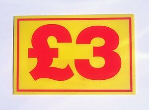 MARKET TRADER £3 PRICE CORREX SIGN BOARD DOUBLE SIDED & WATERPROOF