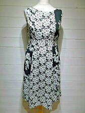 Monsoon Dress ~ Size 14 ~ Black White ~ Sleeveless ~ Casual, Party ~ 2425