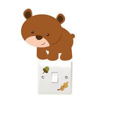 Woodland Oso 3 un. Interruptor De Luz Pared Adhesivo Para Dormitorio De Niños Playroom Divertido