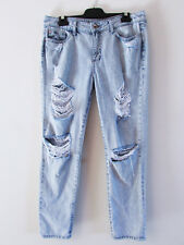 DL1961 Size 29 Blue Denim Stonewash Nolita Slouchy Slim Ripped Distressed Jeans