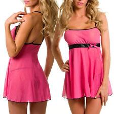Womens Sexy-Lingerie Lace Nightwear Babydoll Chemise Nightie Sleepwear Dress