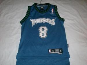 Latrell Sprewell 8 Minnesota Timberwolves NBA Blue Reebok Jersey Boy's Small 8