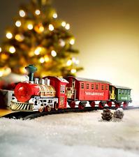 XL elektrisch.Weihnachtszug mit Licht Sound Zug Eisenbahn Komplett mit Schienen