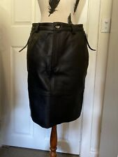 Women's Aje Amelia Black Leather Skirt. Size 10.