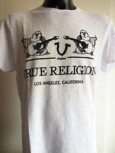 True Religion Herren T-shirt ,kurzarm, Farbe: Weiß; Gr.: XL