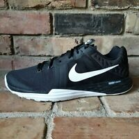 Nike Training Dual Fusion Mens Training Shoes Size 9.5 Black White 832219-001