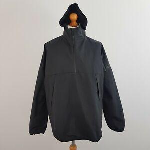 Adidas Men's Black Long Sleeve Hooded Pullover Windbreaker Coat Jacket Size L