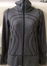 Lululemon Women's Grey Stretch Hoodie Jacket Size 4