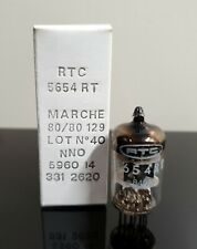 NOS/NIB Mullard 5654/6AK5 BLACK HOLE plate tube