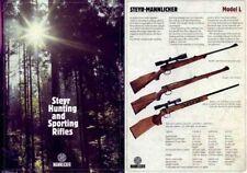Steyr-Mannlicher Schoenauer Repeating Sporting Rifles c1981 (in English-Catalog)