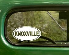 2 KNOXVILLE DECALs Tennessee Oval Sticker For Car Truck Bumper Window Rv Jeep