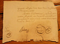 c1700 manuscript document very nice oncial signature original authentic DAMAGED