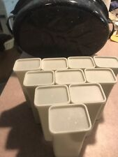 10 Empty Plastic Crystal Light Containers With Lids Crafts Storage Art School