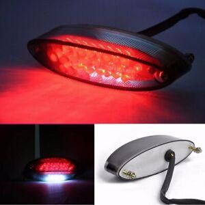 LED Rücklicht E-geprüft Getönt mit Kennzeichenbeleuchtung Motorrad Quad ATV
