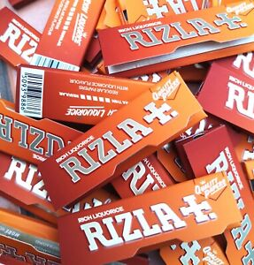 20 x RIZLA LIQUORICE STANDARD REGULAR CIGARETTE ROLLING PAPERS - Rich Liquorice