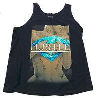 Hard Ten Hustle Black Tank Top Muscle Shirt US Large