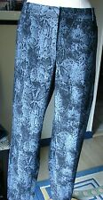 NWT The Limited Exact Stretch Skinny Leg Pants 16 Snake Skin Style Black & Blue