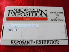 TRES RARE CARTE DE SALON - MACWORLD EXPOSITION - CNIT / LA DEFENSE - 1991