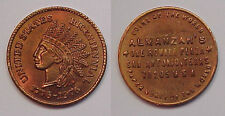 1876-1976 Almanzars Coin Storecard San Antonio, Texas Like Civil War Centennial