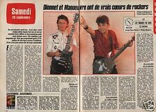 Coupure de presse Clipping 1985 Jean Pierre Dionnet Philippe Manoeuvre (2 pages)