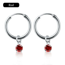 Women Love Heart Cubic Zirconia Crystal Rhinestone Huggie Hoop Earrings Jewelry