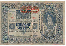 Austria : 1000 Kronen 1902 (1919) nice note
