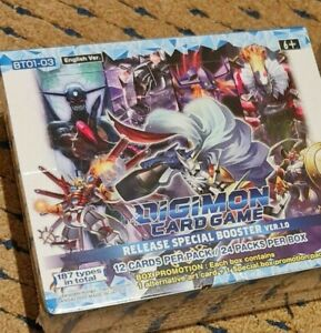 Digimon Card Game Release Special Booster Ver.1.0 Booster Box 24 pack English