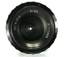 Russian Vega-7-1 2/20 mm lens for Kiev-16U movie camera.Excellent-.CLA.№702968