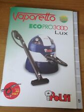 Instructions MANUAL for Polti Vaporetto Ecopro3000 Lux User's Guide Replacement