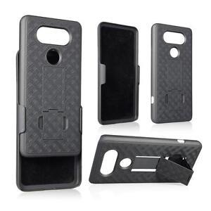New Slim Shell Holster Belt Clip Combo Hard Case With Kickstand For LG V20