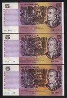 R-206a. (1976) 5 Dollars. Knight/Wheeler.. Gothic-centre   aU-UNC.. CONSEC Trio