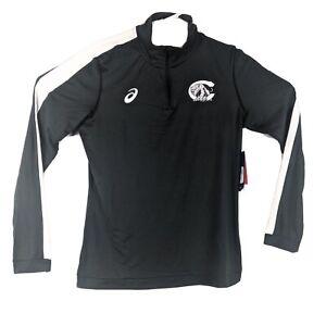 Centralia High School 1/4 Zip Long Sleeve Shirt Womens Size M Medium Gray Asics