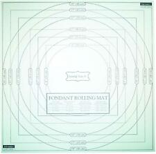 2x Fondant Mat Icing Rolling Mat with Measurements Non Stick Plastic 50 x 50 cm