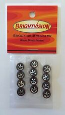 12 Brightvision Redline Wheels - 12 Small Size Deep Dish Dull Chrome Style