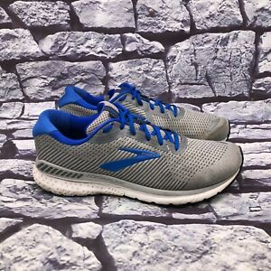 Brooks Adrenaline GTS 20 Men Gray Lace Up Running Shoes Size 13 Wide