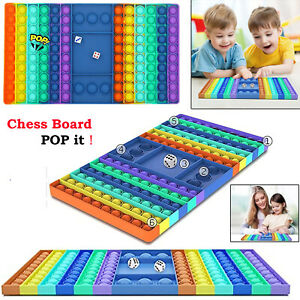 Jumbo Size Silicone Popper Stress Relief Fidget Toy Chess Board Game Sensory UK