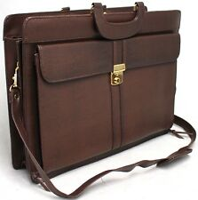 Satchel with Shoulder Strap and Lock and Key. Fits 15 inch Laptop. Style KS9482.
