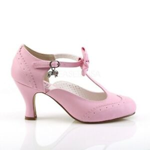 "Heels Pink FLAPPER-11 - 3"" Swing Dance Shoes"